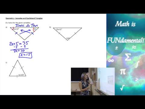 4.5 Geometry - Isosceles and Equilateral Triangles
