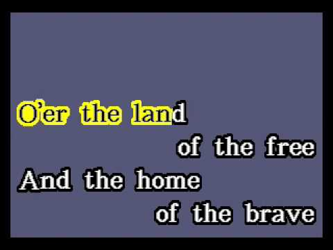 "National Anthem ""Star Spangled Banner"" (Video Karaoke Version)"