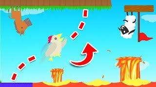 LAVA + ZERO GRAVITY = IMPOSSIBLE LEVEL (Ultimate Chicken Horse)