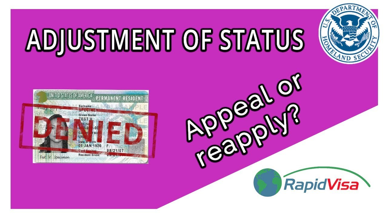 My Adjustment of Status Was Denied - Appeal or Reapply?