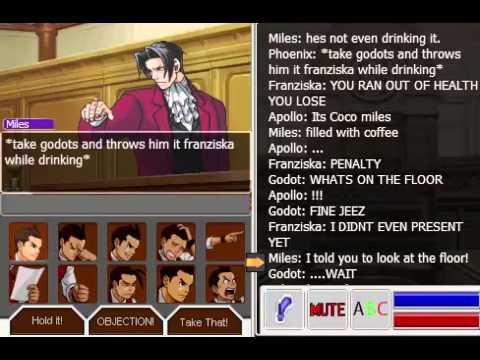 Phoenix Wright VS Godot (COFFEE DRINKING BATTLE)