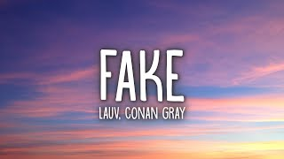 Download Mp3 Lauv & Conan Gray - Fake  Lyrics
