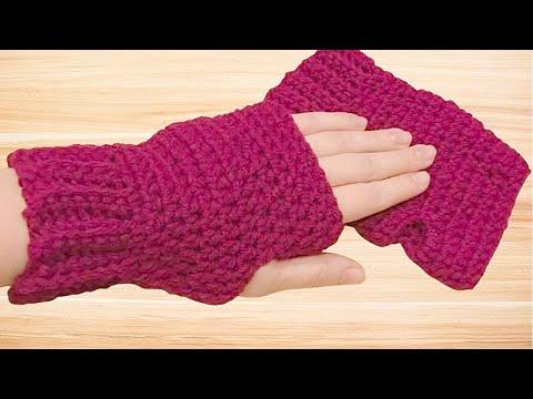 Crochet Fingerless Gloves Tutorial - Crochet Jewel