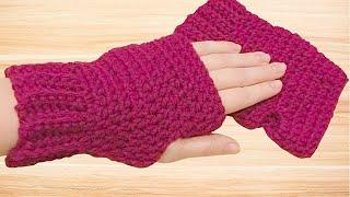 How to Crochet Fingerless Gloves Tutorial - Crochet Jewel