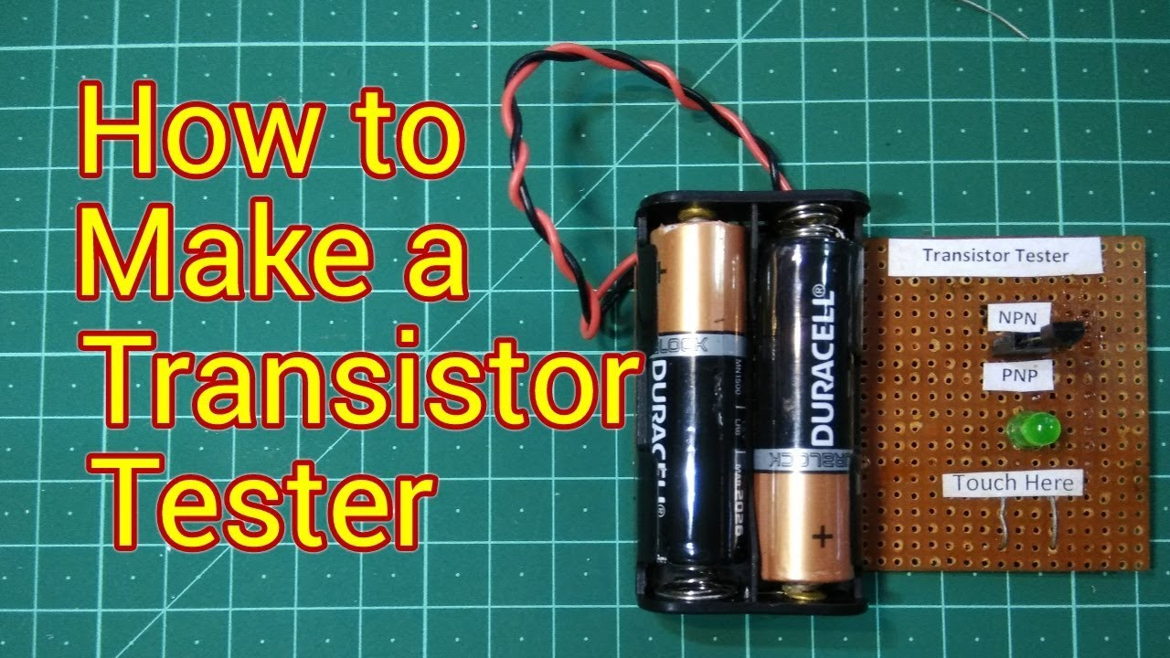 How to make Simplest Touch Sensor using Transistor | NPN & PNP ...