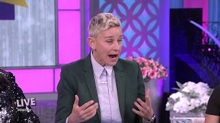 Ellen DeGeneres Stops By To Help The Real Celebrate Its 1000th Episode