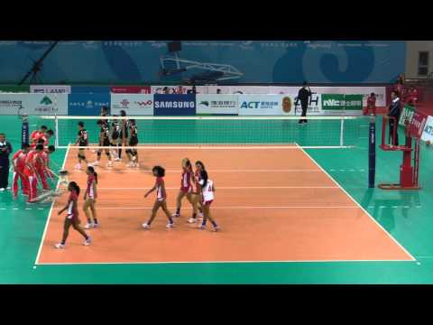 Hong Kong vs Guam Set 3 (6th East Asian Games- Women Volleyball) 9-Oct-2013