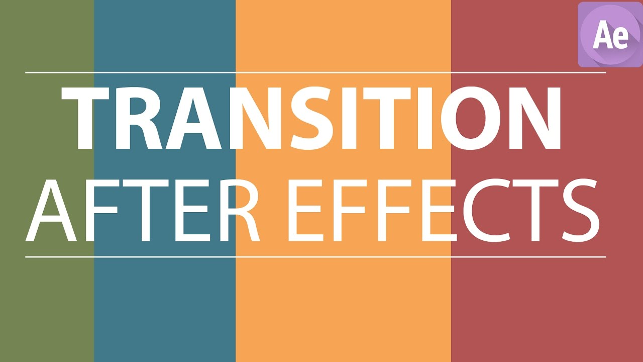 After Effects Tutorial - Flat Color Transition