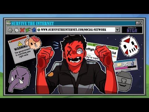 MY NEW FAVORITE GAME! | Survive the Internet (w/ H2O Delirious, Ohmwrecker, Rilla, & Squirrel)