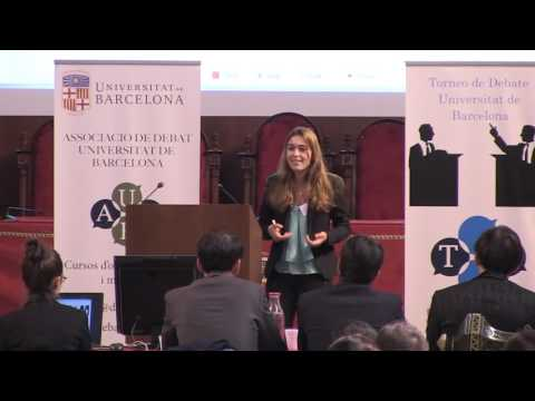 Final de Torneo de Debate Universitat de Barcelona