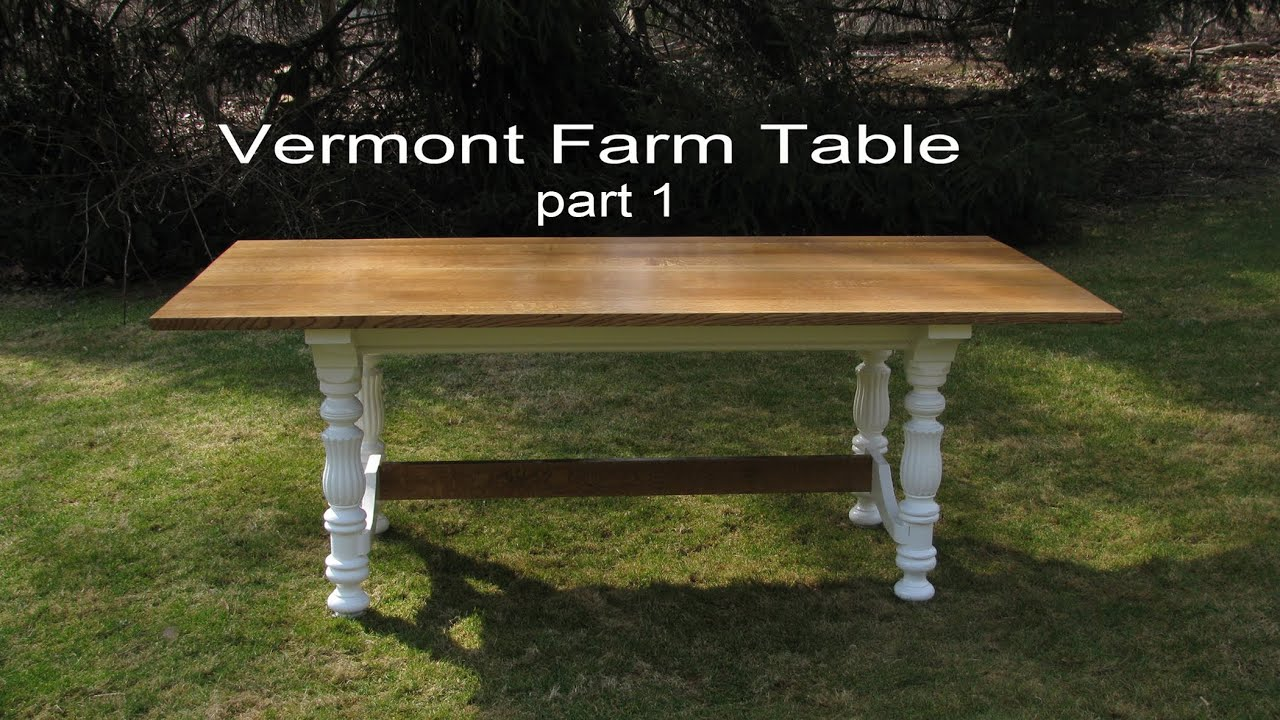 How To Build A Farmhouse Table Youtube How To Build Make A Dining Table By Jon Peters Part 1