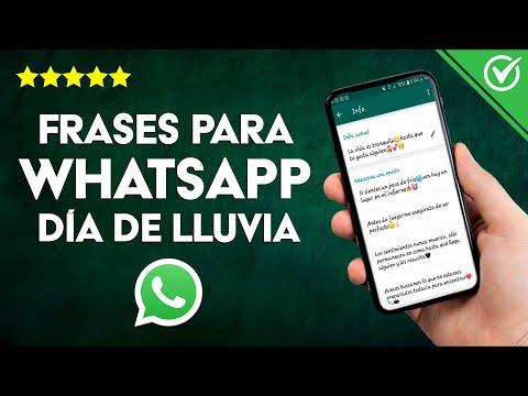 Las Mejores Frases para Compartir en WhatsApp en días de Lluvia
