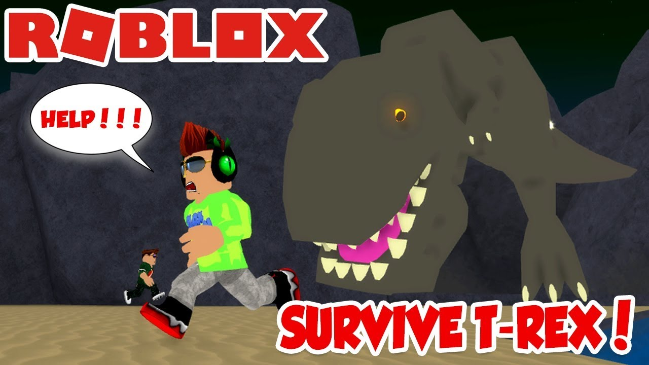 Player Hunter Roblox - Survive A Very Hungry T Rex In Roblox Dinosaur Hunter Youtube
