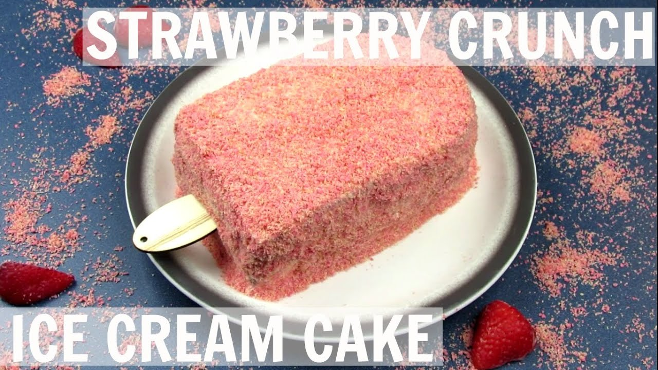 How to make strawberry crunch ice cream cake youtube ccuart Gallery