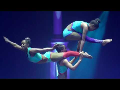 African Circus shows and performances  Acrobatic Trio v30AA1
