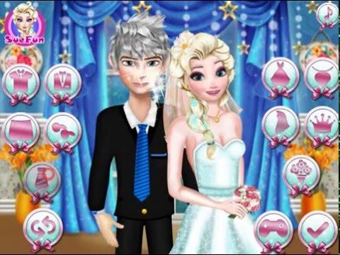 Мультик игра Идеальная свадьба Эльзы и Джека (Jack and Elsa Perfect Wedding Pose)