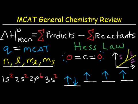 MCAT General Chemistry Lectures Review Prep Part 2 – Equatio