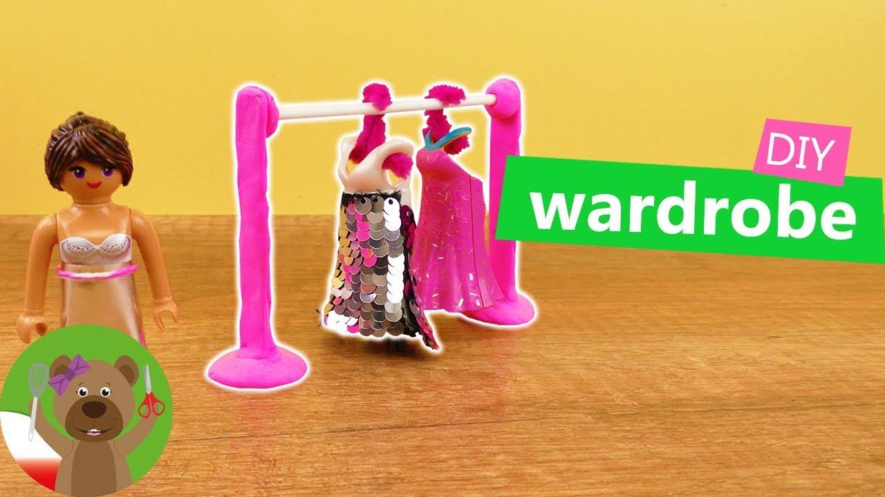 DIY Playmobil | Nowy wieszak na sukienki Stelli | urządzanie willi Playmobil