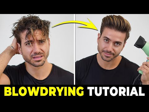 HOW TO USE A HAIR DRYER | Blowdrying Tutorial | Men's Hairstyle Tutorial 2019 thumbnail