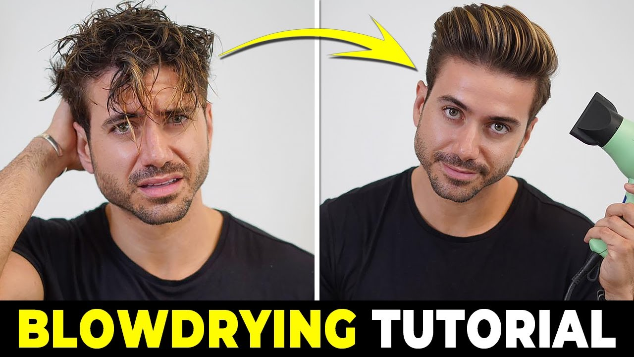 How To Use A Hair Dryer Blowdrying Tutorial Men S Hairstyle Tutorial 2019 Youtube
