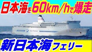 【時速60キロで爆走するフェリー】阪九・新日本海フェリー   SHKライン 東京九州フェリー 関釜フェリー