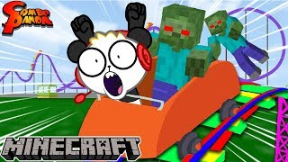 ZOMBIES AT THE THEME PARK on Minecraft Monday ! Let's Play with Combo Panda