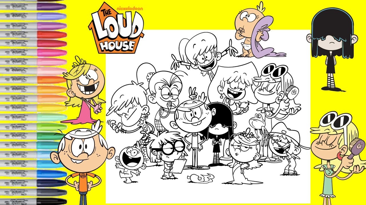 - The Loud House Coloring Book Page Lori Leni Luna Luan Lynn Lincoln