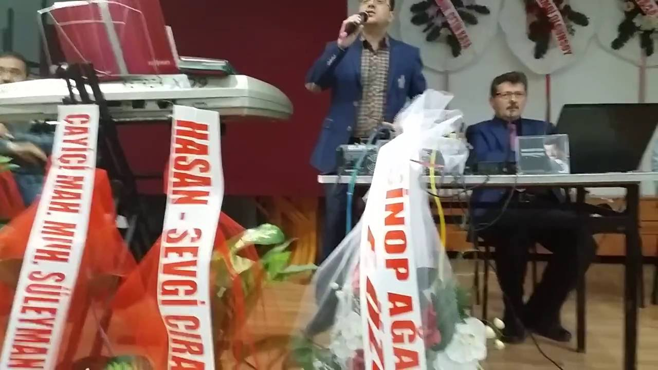 Sinop / Ayancık'ta Düğün programı Sanatçımız Ünal Doğan Gül Açar ilahisi