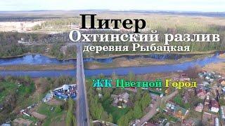 Деревня Рыбацкая, Санкт-Петербург. Разлив реки Охты, КАД