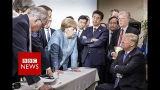 Donald Trump on the G7 photo- BBC News