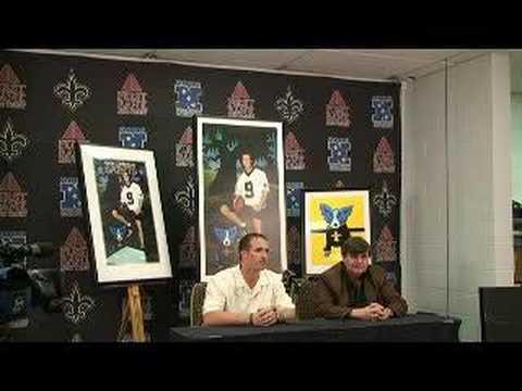 Drew Brees, New Orleans Saints, George Rodrigue Press Conf