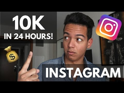 HOW TO GROW 10K INSTAGRAM FOLLOWERS IN 24 HOURS?!