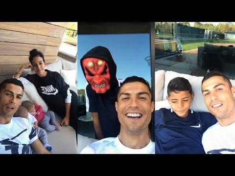 Cristiano Ronaldo | Instagram Live Stream | 27 October 2017 w/ Ronaldo Jr , Twins & Girlfriend