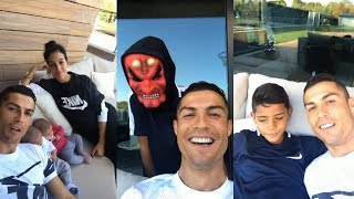 Cristiano Ronaldo | Instagram Live Stream | 27 October 2017 w/ Ronaldo Jr , Twins & Girlfriend
