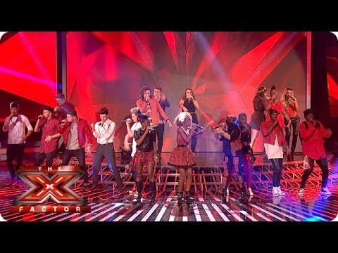 The Final 10 sing Locked Out Of Heaven by Bruno Mars - Live Week 3 - The X  Factor 2013