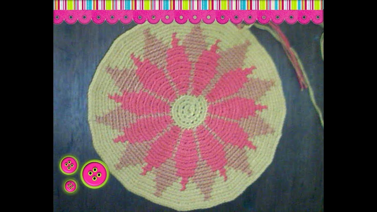 Cómo tejer una mochila estilo wayuú part 2 - YouTube