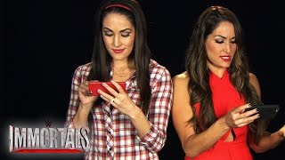 "The Bellas play ""WWE Immortals"""