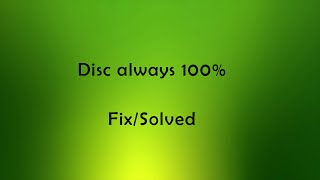 Disc always 100% solved [Fix]