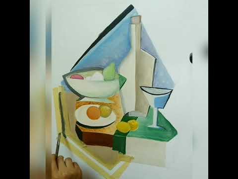 Cubism Art Of My Style رسم تكعيبي سريع بأسلوبي Youtube