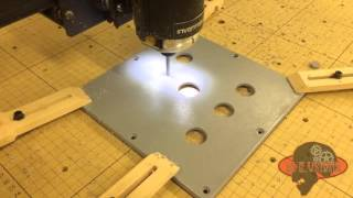 Cutting some enclosures with our CNC router