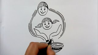 Video save girl child drawing step by step download MP3, 3GP, MP4, WEBM, AVI, FLV Agustus 2018