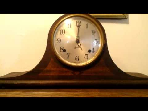 Old Sessions Mantle Clock strikes 5