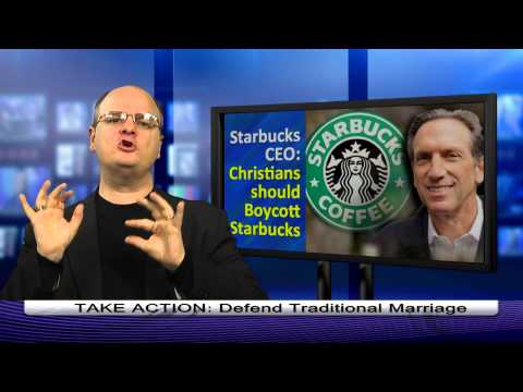 Starbucks CEO Says Christians should Boycott - 1 min. - Dr. Chaps