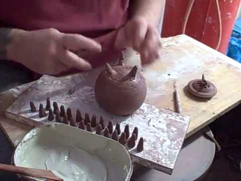 pottery part 2 incense burner construction stevebooton ceramics com