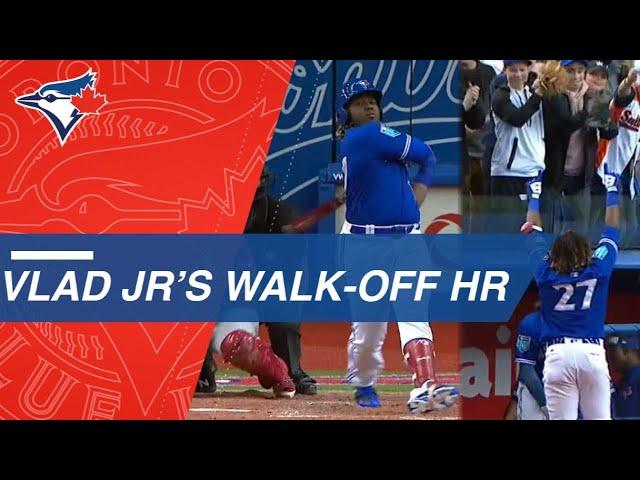 Vladimir Guerrero Jr Belts Electrifying Walk Off Home Run In Montreal