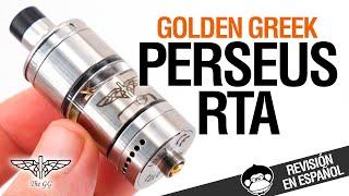 Golden Greek PERSEUS RTA / ¡PEDAZO DE ATO! / revisión