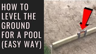 How to level the ground for a swimming pool