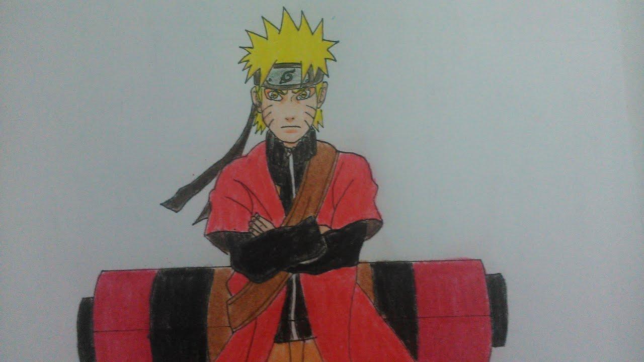 Como dibujar a Naruto modo Sennin paso a paso - YouTube