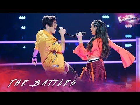 The Battles: Aydan Calafiore v Madi Krstevski 'Uptown Funk' | The Voice Australia 2018