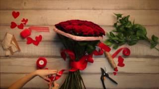 💝Букет «В виде сердца» | Подарить цветы на 14 февраля Киев(, 2017-01-25T11:49:12.000Z)